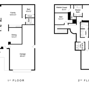 Black & White Floor Plan
